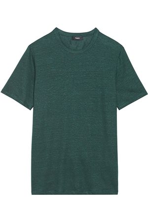 THEORY Men's Essential Standard-Fit Flex Linen T-Shirt - - Size Medium
