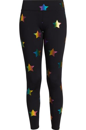 Terez Women's Tall Band Star Foil Leggings - - Size Large