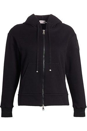 Moncler Women's Striped-Cuff Zip Hoodie - - Size Medium