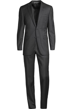 CANALI Men's Wool Tailored Slim Suit - - Size 50 (40) R