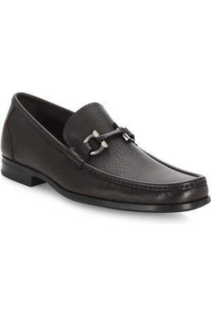 Salvatore Ferragamo Men's Grandioso Gancini Bit Leather Loafers - - Size 13 EE