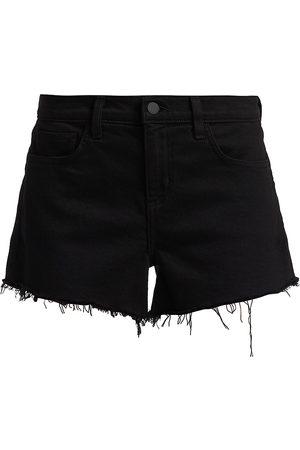 L'Agence Women's Audrey Mid-Rise Denim Shorts - - Size 30 (8-10)