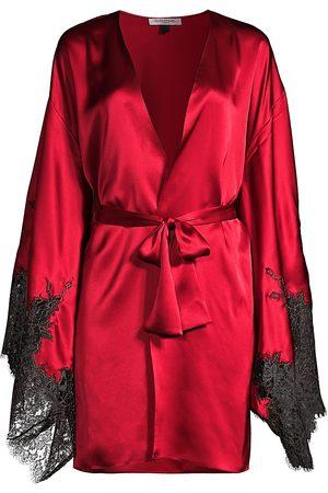 Gilda and Pearl Women's Coco Short Lace Trim Robe