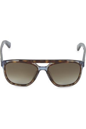 Salvatore Ferragamo Men's Hi-Tech 57MM Brow Bar Square Sunglasses