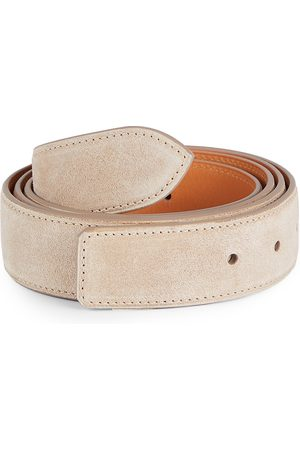 CORTHAY Men's Calf Suede Strap Belt - - Size Medium (100)