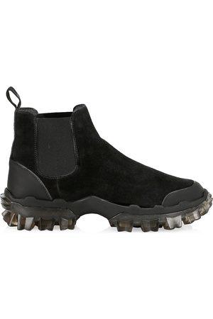 Moncler Men's Hayden Suede Chelsea Boots - - Size 45 (12)