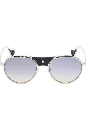 Moncler Men's 57MM Rounded Aviator Sunglasses