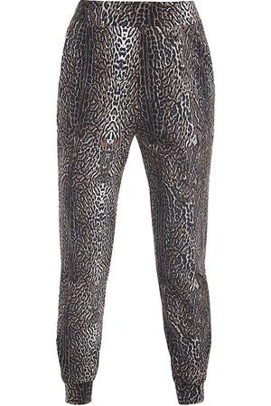 CHIARA BONI Women's Kris Leopard Joggers - - Size Medium