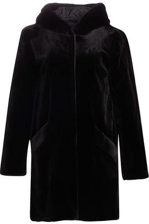 The Fur Salon Women's Norman Ambrose For Hooded Sheared Mink Coat - - Size Medium