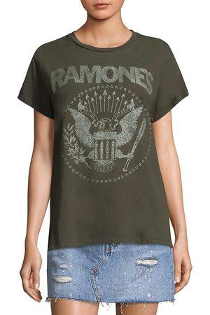 Madeworn Women's The Ramones Glitter Tee - - Size Medium