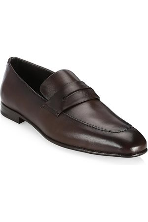 Ermenegildo Zegna Men's L'Asola Leather Loafer - - Size 12 UK (13 US)
