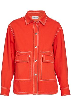 Kenzo Women's Military Shirt Jacket - - Size 44 (12)