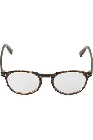 Tom Ford Men's 50MM Cat Eye Block Optical Glasses - Havana