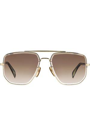 David beckham Men's 60MM Aviator Sunglasses