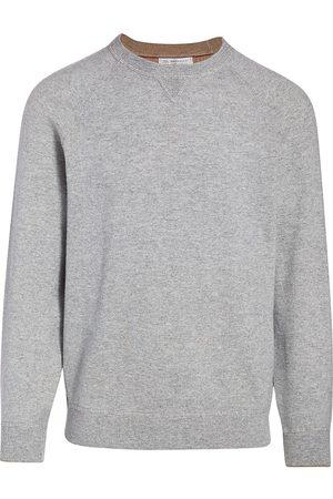 Brunello Cucinelli Men's Cashmere Raglan-Sleeve Pullover - - Size 56 (46)