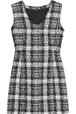 THEORY Women's Sculpted Tweed Dress - - Size 8