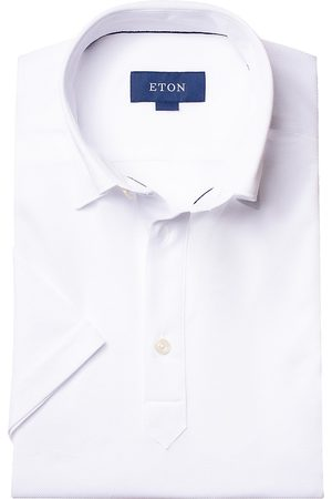 Eton Men's Short-Sleeve Pique Button-Front Shirt - - Size XL