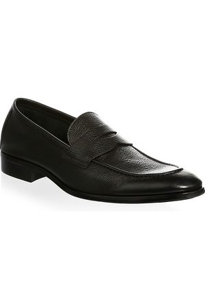 To Boot Men's Textured Leather Penny Loafers - - Size 12 M