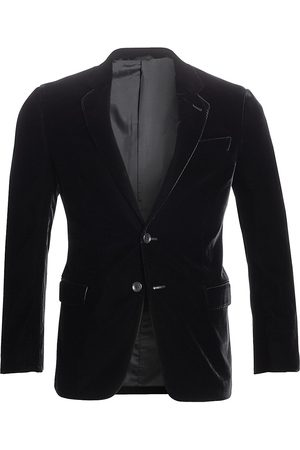 Armani Men's Stretch Solid Velvet Blazer - - Size 56 (46) R
