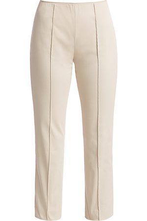 Agnona Women Stretch Pants - Women's Stretch Cotton Side Zip Pants - - Size 42 (6)