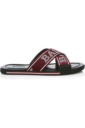 Bally Men's Bonks Criss-Cross Logo Slides - - Size 11 Sandals