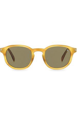David beckham Men's 49MM Round Sunglasses