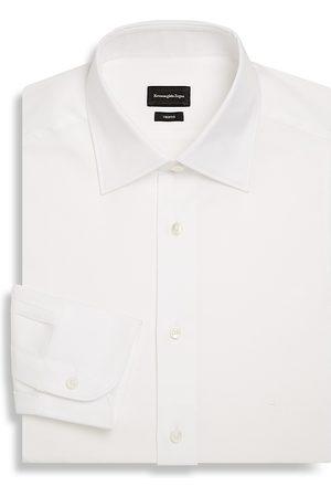 Ermenegildo Zegna Men's Regular-Fit Cotton Dress Shirt - - Size 37 (14.5) R
