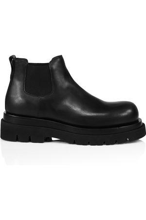 Bottega Veneta Men's Platform Leather Chelsea Boots - - Size 43 (10) E