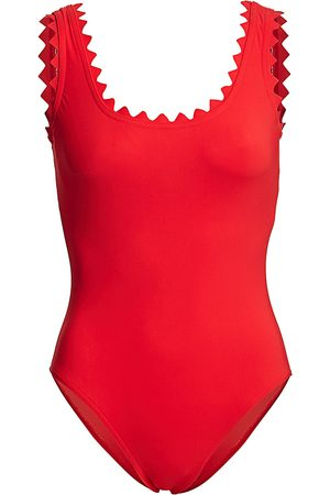 Karla Colletto Women's Ines Scallop-Neck One-Piece Swimsuit - - Size 10