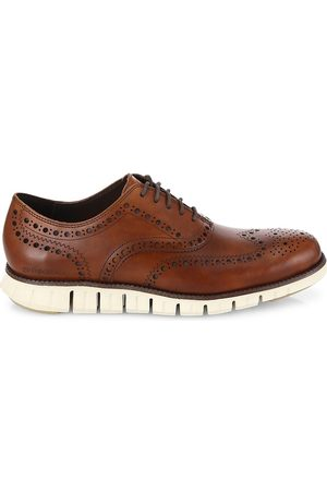 Cole Haan Men's ZeroGrand Wingtip Leather Oxfords - - Size 9 M