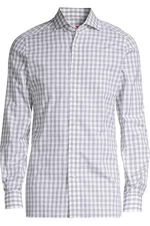 ISAIA Men's Seasonal Colors Check Sport Shirt - - Size 42 (16.5)