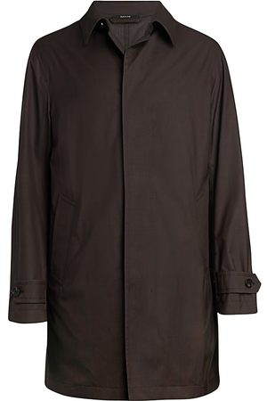 Ermenegildo Zegna Men's Wool-Silk Trench Coat - - Size 58 (48)
