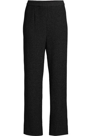 Misook Women's Sparkle Pull-On Wide-Leg Pants - - Size Medium