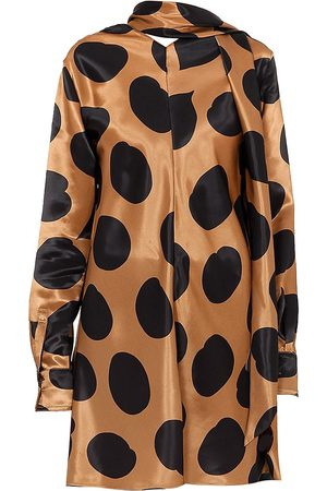 Marni Women's Printed Scarfneck Satin Tunic Blouse - - Size 38 (2)