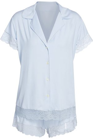 Eberjey Women's Malou 2-Piece Pajama Set - Water - Size Large