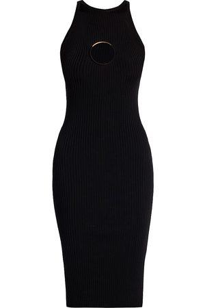 VERSACE Women Knitted Dresses - Women's Keyhole Knit Sheath Dress - - Size 48 (12)