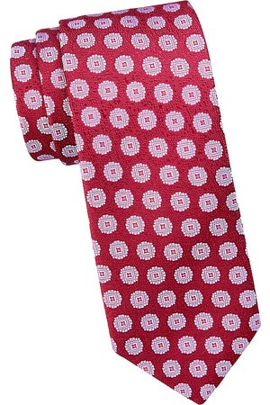 Charvet Men's Large Scale Medallion Silk Tie