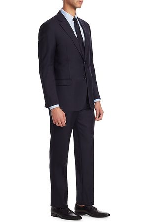 Emporio Armani Men's G Line Charcoal Solid Super 130s Suit - - Size 46 (36) R