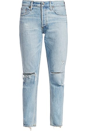 AGOLDE Women's Jamie High-Rise Classic-Fit Ankle Distressed Jeans - - Size 32 (12)