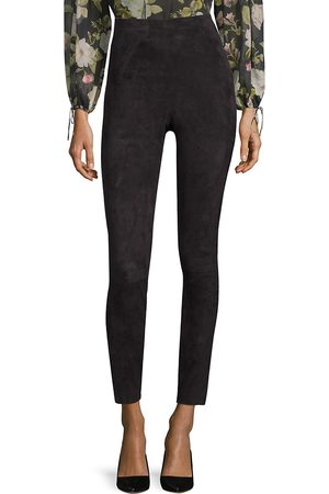 ALICE+OLIVIA Women's Maddox Suede High-Rise Pants - - Size 12
