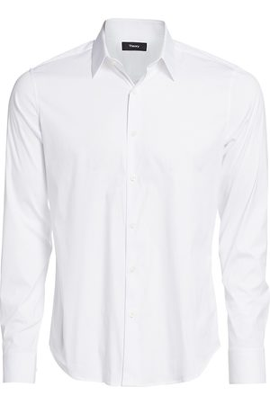 THEORY Men's Sylvain Wealth Button-Down Shirt - - Size Small