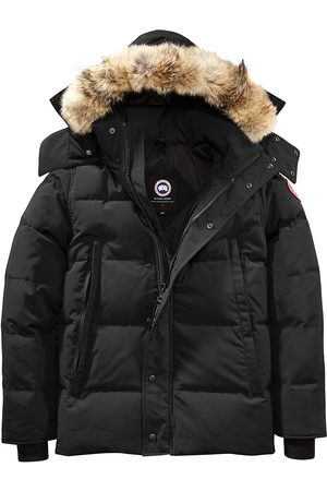 Canada Goose Men's Wyndham Fusion-Fit Coyote Fur-Trim Down Parka - - Size Small