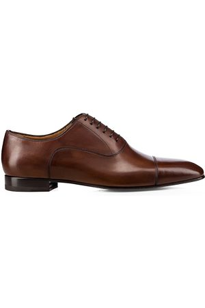 Christian Louboutin Men's Cap-Toe Leather Oxfords - - Size 46.5 (13.5)