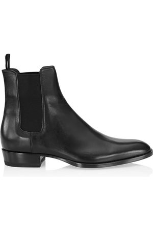 Saint Laurent Men's Wyatt Leather Chelsea Boots - - Size 46 (13)