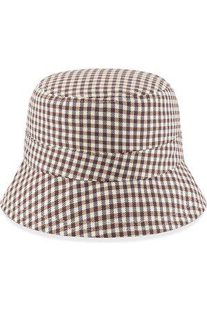 New Era Men Hats - Men's Reversible Gingham Bucket Hat - Tan - Size Large