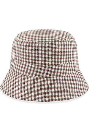New Era Men's Reversible Gingham Bucket Hat - - Size Medium