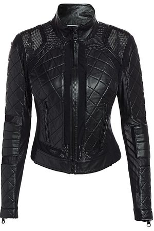 Blanc Noir Women's Leather Moto Jacket - - Size Small
