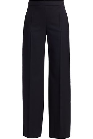 Max Mara Women's Elio Wide-Leg Wool Pants - - Size 0