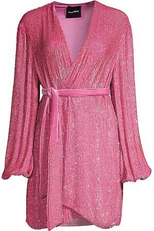 Retrofete Women's Gabrielle Sequin Wrap Dress - - Size Small