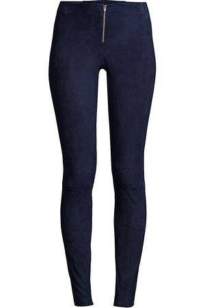 ALICE+OLIVIA Women's Suede Legging Pants - - Size 4